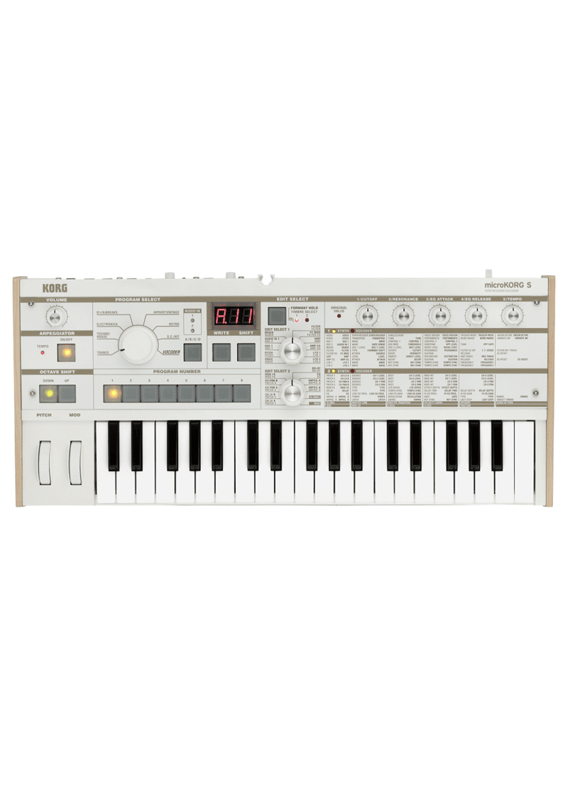 Korg microKORG S Synthesizer 1 https://www.musicheadstore.com/wp-content/uploads/2021/03/Korg-microKORG-S-Synthesizer-1.png