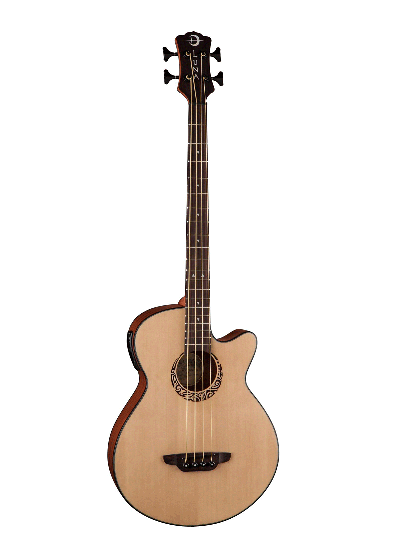 Luna Guitars Tribal Short Scale Acoustic Electric Bass 1 https://www.musicheadstore.com/wp-content/uploads/2021/03/Luna-Guitars-Tribal-Short-Scale-Acoustic-Electric-Bass-1.png