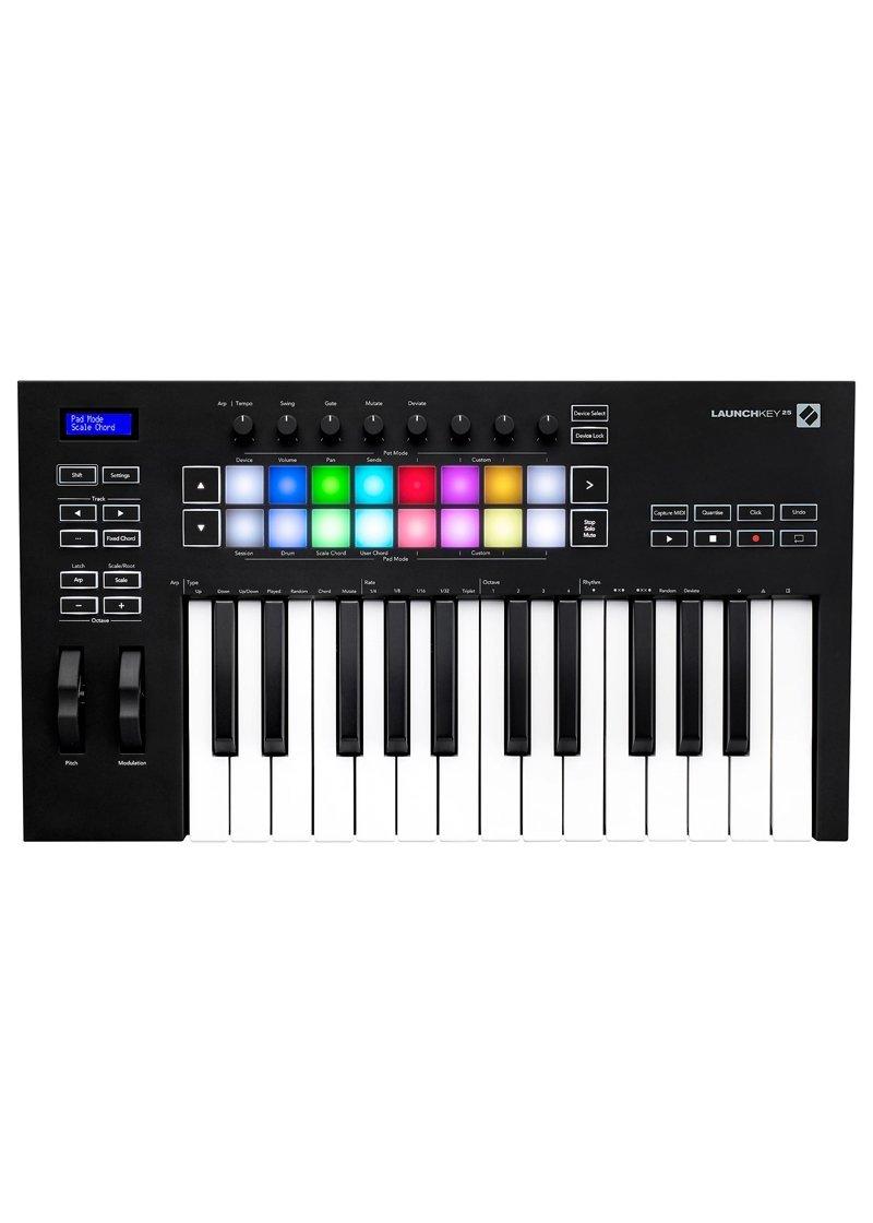 Novation Launchkey 25 MKIII Midi Keyboard Controller 1 https://www.musicheadstore.com/wp-content/uploads/2021/03/Novation-Launchkey-25-MKIII-Midi-Keyboard-Controller-1.jpg