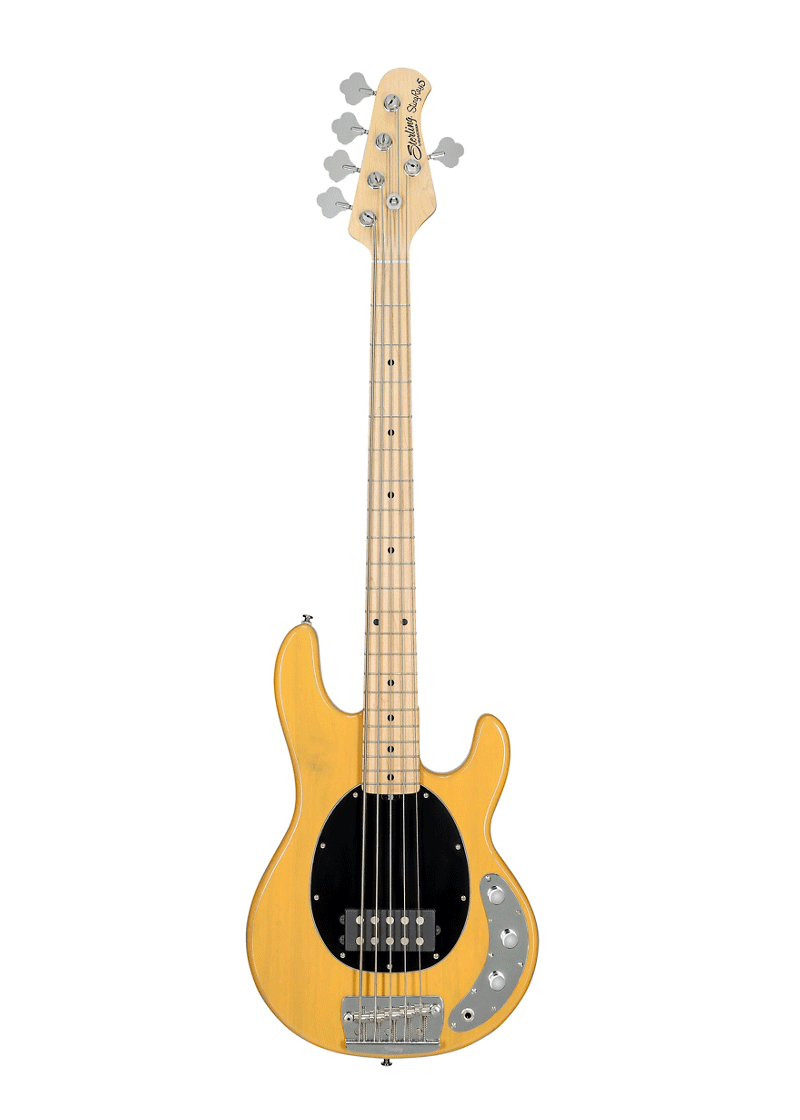 Sterling StingRay5 Classic Maple Fingerboard 5 String Butterscotch 1 https://www.musicheadstore.com/wp-content/uploads/2021/03/Sterling-StingRay5-Classic-Maple-Fingerboard-5-String-Butterscotch-1.png