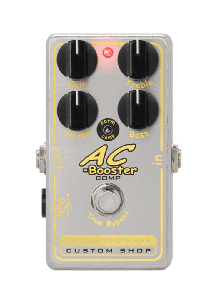 XOTIC AC BOOSTER COMP 1 https://www.musicheadstore.com/wp-content/uploads/2021/03/XOTIC-AC-BOOSTER-COMP-1.png