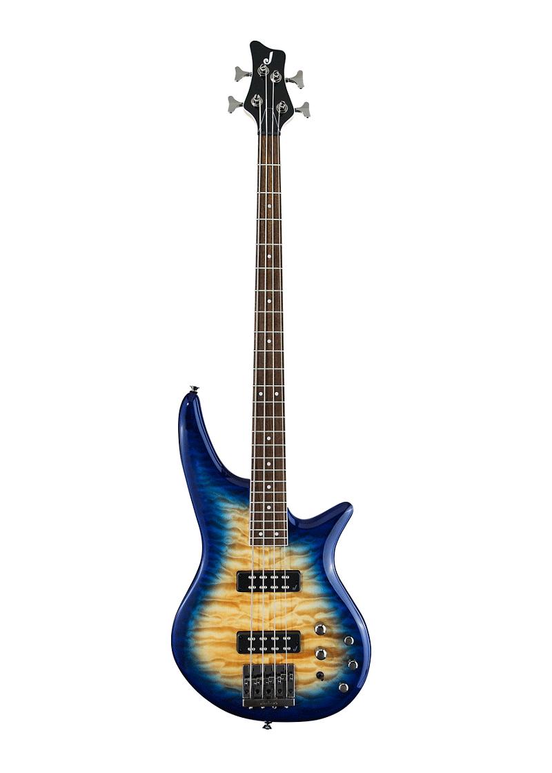 Jackson JS Series Spectra Bass JS3Q Amber Blue Burst 1 https://www.musicheadstore.com/wp-content/uploads/2021/04/Jackson-JS-Series-Spectra-Bass-JS3Q-Amber-Blue-Burst-1.png