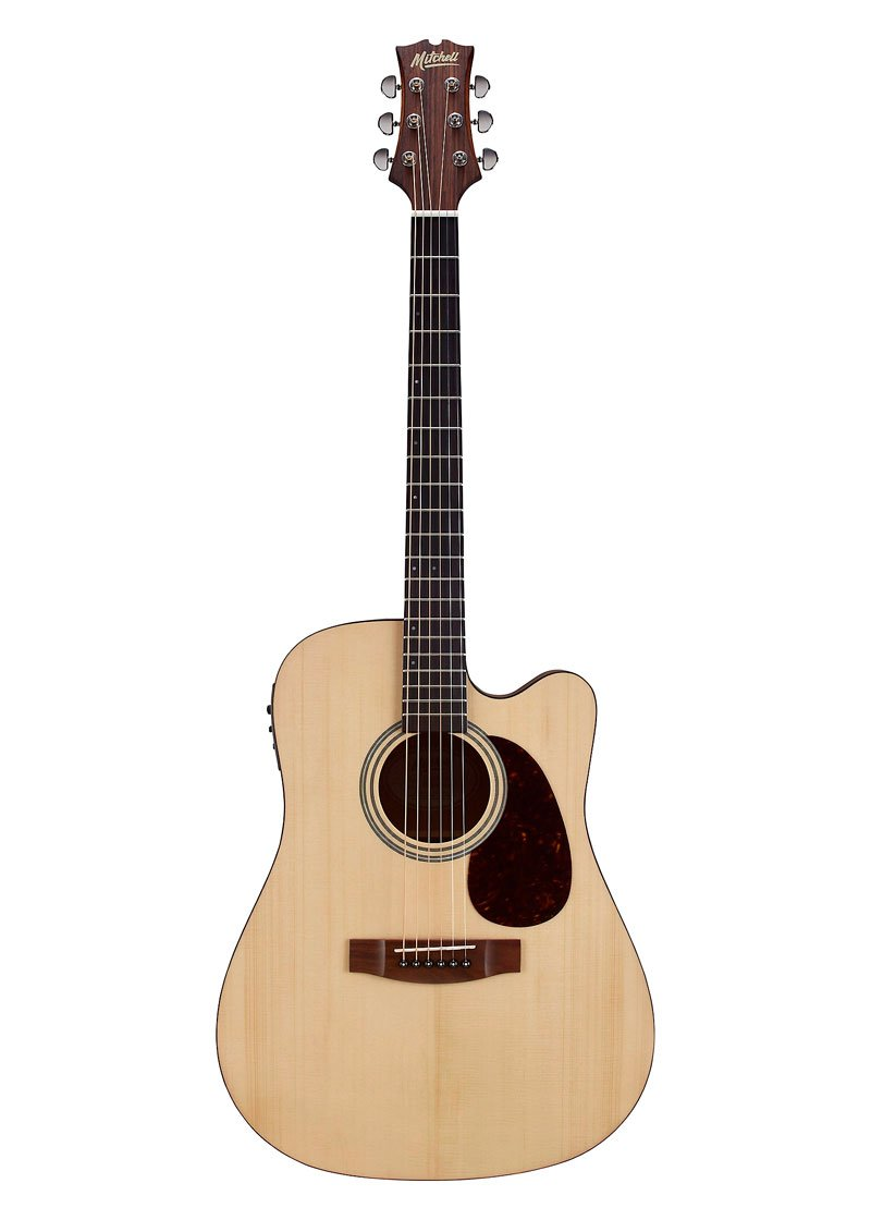 Mitchell T311CE Dreadnought Acoustic Electric Guitar 2